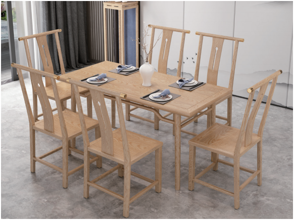 實木長餐桌