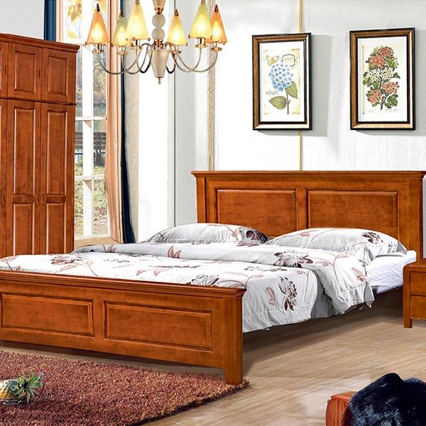 實木床五門帶五門頂衣柜