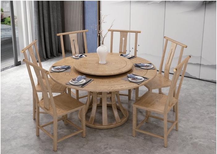 餐廳實木圓餐桌